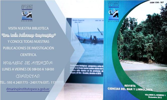 Biblioteca Dra. Lucia Solorzano Constantine 56 anos resguardando la informacion cientifica del Instituto Nacional de Pesca