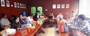 Miembros de TBTI durante el taller  en el auditorio del INP.