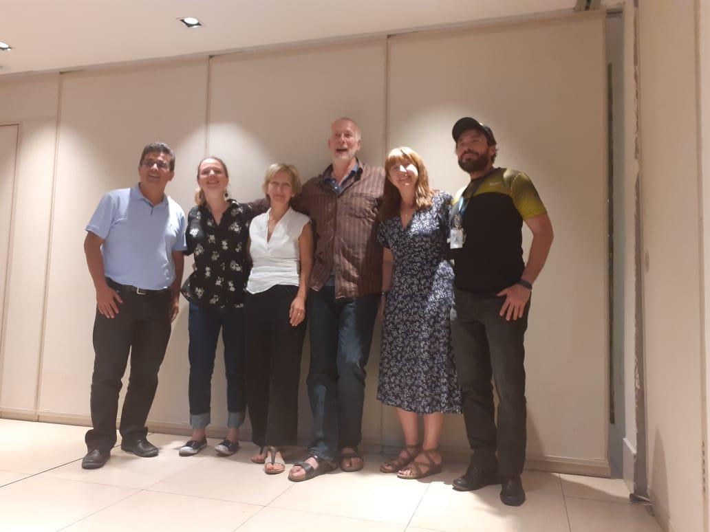 Gustavo Domínguez (ESPOL-REMM), Jane Jone (University of Exeter, UK), Tamara Galloway (U. Of Exeter, UK), Martin Thiel (U. Católica Norte de Chile), Carie Halloway (U. Of Exeter, UK), Nikita Gaibor (INP- REMM).
