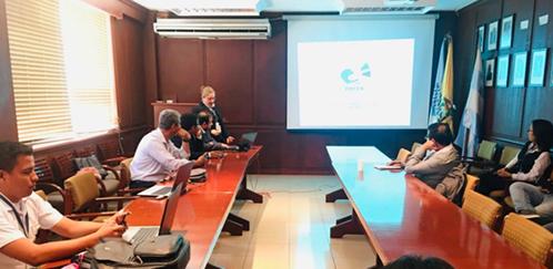 Investigadores de cada una de las instituciones que conforman el equipo de ERFEN en el auditorio del INP.