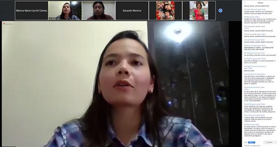 """La conferencista MSc. Laia Juliana Muñoz Abril (Colombia) expuso el tema """"Importancia de la genómica en el estudio de las especies pesqueras de interés comercial en Ecuador"""" en el cuarto día de charla que se realizó del 22 al 26 de junio por la plataforma Zoom."""
