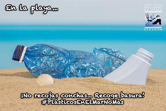 Plasticos en el mar NO MAS.