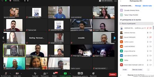Participantes que asistieron al Webinar Red Anadara.
