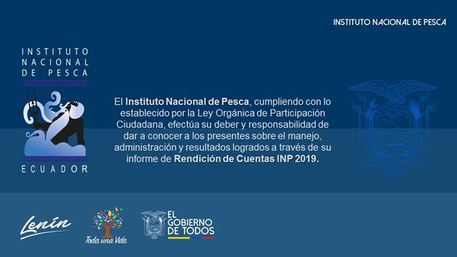 RENDICION DE CUENTAS INP 2019