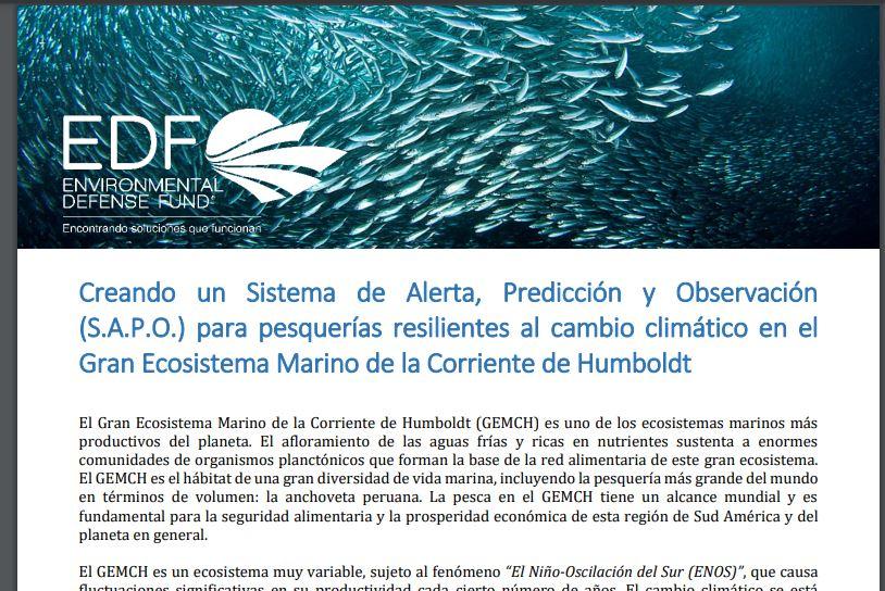 SISTEMA DE ALERTA, PREDICCION Y OBSERVACION (SAPO)