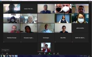 Participantes de las instituciones del comité durante la reunión ERFEN