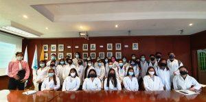 Estudiantes de la Universidad Agraria en el Auditorio del IPIAP
