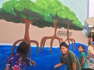 Niñas de las comunidades de Puerto Roma y Santa Rosa.