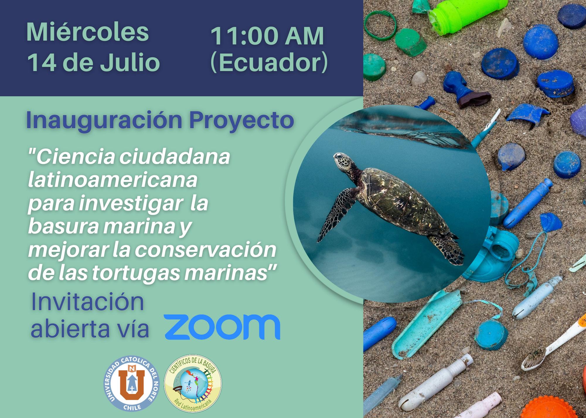 El proyecto será financiado por una fundación japonesa, y durante nueve meses, alrededor de 30 participantes de los países de la costa sur del Pacífico Este, se capacitarán sobre el impacto de la basura en las playas por donde transitan las tortugas marinas.